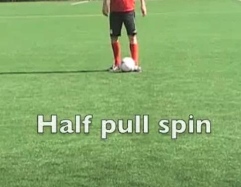 schijnbeweging half pull spin